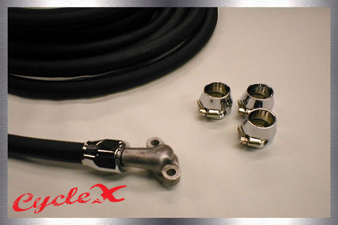 oil system componentsoil line and chrome clamps